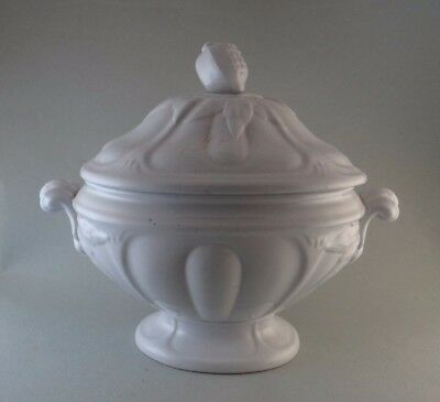 White Ironstone Sauce Tureen - Grand Loop Pattern