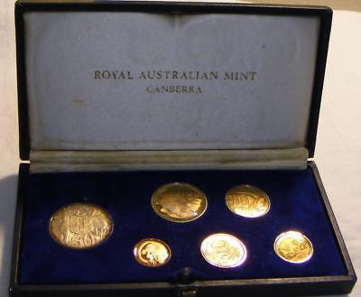 1966 Royal Australian Mint Decimal Coinage Proof Set Of 6 Coins In Original Box