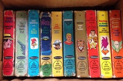 LOT OF 10 VINTAGE 1960's & 1970's WHITMAN A BIG LITTLE BOOK TRACY FIERY RANGER