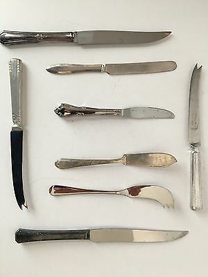 Vintage and Antique Table Knife Assortment Lot of 8