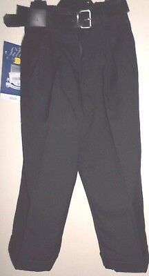 New Boys Black Formal School Trousers With Belt 2-3 Years By Silver Choice