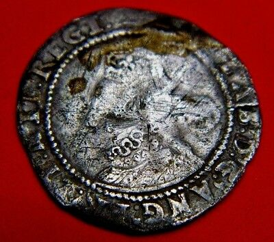 1602 Elizabeth 1St Silver Sixpence Rose Beside Bust Mm2 Last Tudor Year (A)