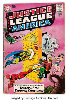 1961 * JUSTICE LEAGUE of AMERICA #2 * DC Comics est 5.0 VG/FN * Off WHITE Pages