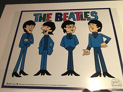 THE BEATLES: Casual Animation Art Cartoon Sericel Limited Edition Cal