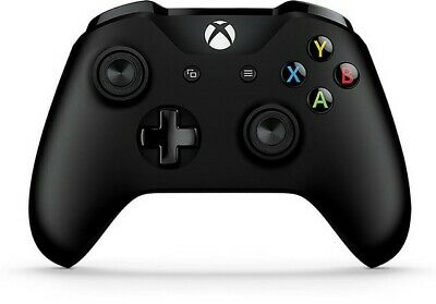 Genuine Microsoft Xbox One S Black Wireless Bluetooth Controller 6CL-00001 - VG
