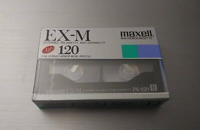 Maxell EX-M Ceramic Metal Particle 8mm Blank Camcorder Tape 120 P6-120EX New