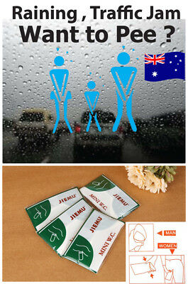4 X 700ml Portable Pee Urine Bag Disable Care Mini Toilet Car Travel Camping SYD