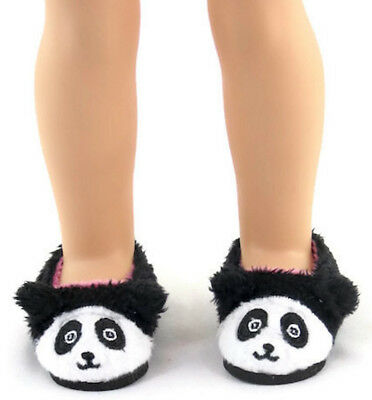 "Panda Bear Slipper Shoes fits 14.5"" American Girl Wellie Wishers Doll Clothes"