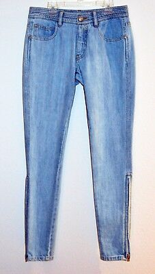 Chanel Jeans light blue color authentic size 40 and 36 side zippers made in Ital