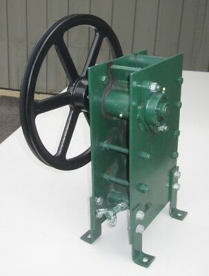 """3"""" x 3.5"""" Portable Jaw Crusher for Rock, Glass Frit, Prospecting, Lab, Gold 110v"""