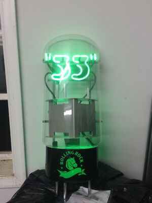 (VTG) 2006 Rolling Rock 33 Amplifier Tube Beer Neon light up Sign bar Brewery