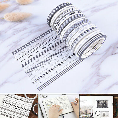 Originality Slim Washi Tape DIY Scrapbooking Masking Tape School Office SupplyMO