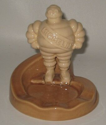 Antique Michelin Tire Man Ceramic Figural Ashtray Made in France Rare! Lot#BE1