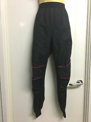 Torque Size M Black with Red Trim Motorcycle Mid Layer Bonded Fleece Pants #813