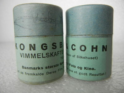 Demark Movie Film Cannasters (2) Vintage Collectable Kongsbak & Cohn