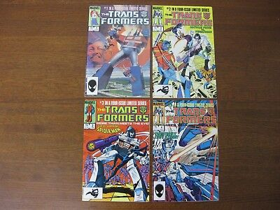 TRANSFORMERS 1 through 4 - COMPLETE SET OF THE LIMITED SERIES - HIGH GRADE NM!