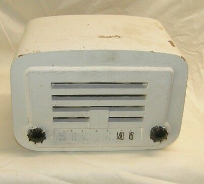 Vintage antique tube radio wood  painted white tabletop unknown brand