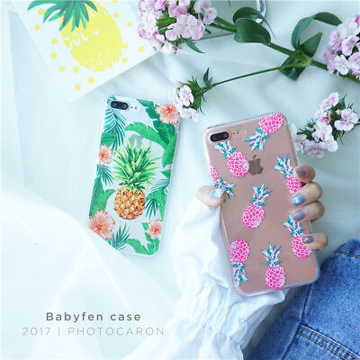 Fruit Pattern Soft TPU Clear Phone Case Cover For iPhone XS XR 7 Plus 5 SE 8 6s