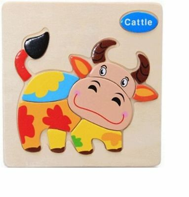 Cartoon Animal Puzzle Montessori Educational Toy Wooden Toys For Children
