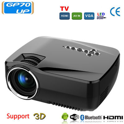 3D Full HD 1080P Home Theater Android Smart Projector LCD HDMI WIFI 1200 Lumens