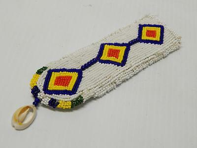 Vintage Plains Cree Indian Fully Beaded Knife Case / Sheath - - Xlnt Cond - Nr !