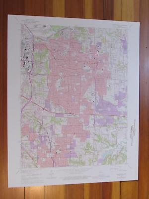 Independence Missouri 1976 Original Vintage USGS Topo Map