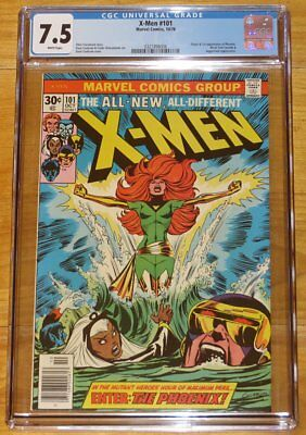 1976 X-MEN No. 101 CGC 7.5 White Pages Conclusion of Phoenix Origin No Reserve