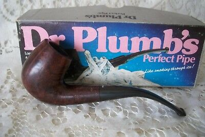 Vintage Antique Tobacco Pipe Dr Plumb Perfect Pipe #012 + Box London England