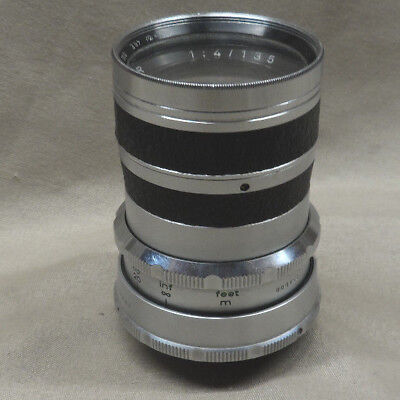 Vintage Agfa Color Telinear 1:4 135mm Camera Lens w/ Filter - AS IS / Untested