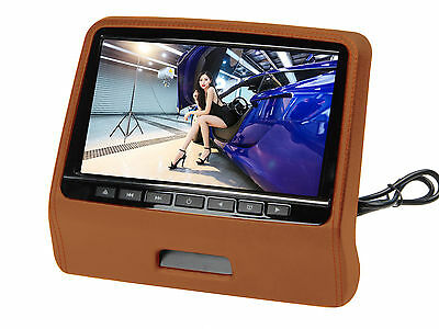 "9"" Ultra-thin Car Headrest Monitors w/DVD Player/USB/HDMI+Games -Brown"
