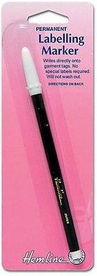 HEMLINE - PERMANENT FINE LINE LABELLING PEN - EXTRA FINE /Quilting/Sewing/Craft