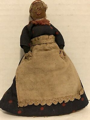 Antique Handmade Slave Doll - Hands In and Out of Pockets