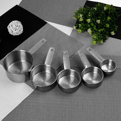 5 Pcs/set Practical Home Kitchen Baking Tool Stainless Steel Measuring Cups Set