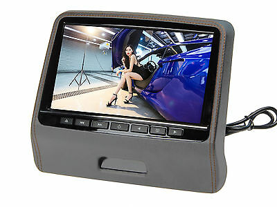 "9"" Ultra-thin Car Headrest Monitors w/DVD Player/USB/HDMI+Games-Gray"