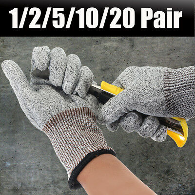 1-20Pcs Cut Proof Stab Resistant Stainless Steel Wire Safety Mesh Butcher Gloves