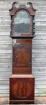 Antique Oak & Mahogany Long Case Grandfather Clock Case c1850 (Tiverton Devon)