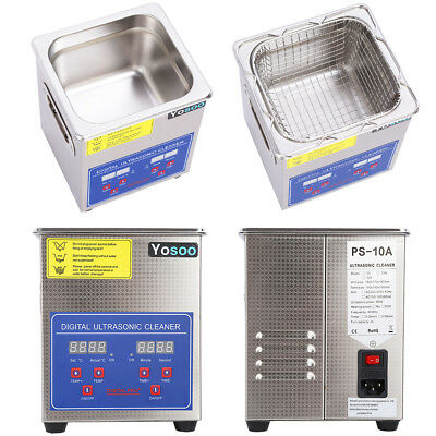 Professional 2L Liter Stainless Steel Ultrasonic Cleaner Industry Heated Heater