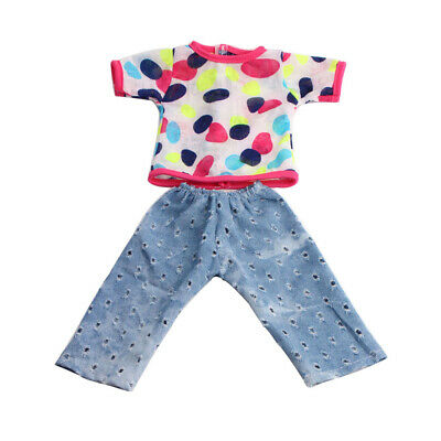 """Fancy Shirt Jeans Pants Outfit Clothes for 18"""" American Girl Dolls Dress Up"""