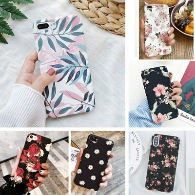 Hybrid Shockproof Hard Flower Thin Case Cover For iPhone 11 XS Max 7 Plus 6s 8 X