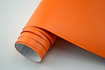 4,80€/m² Auto Folie ORANGE MATT 3000 x 152 cm 3D Klebefolie Car Wrapping
