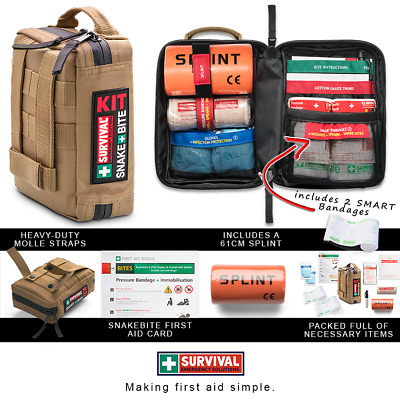 SURVIVAL Snake Bite First Aid KIT - For Australian Snakes & the Funnelweb Spider