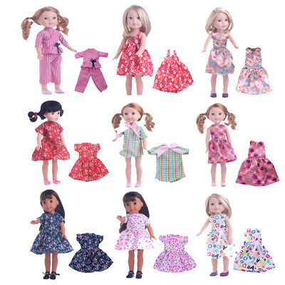 14 inch Dolls Clothes Party/Casual Dress for American Girl Wellie Wishers Doll
