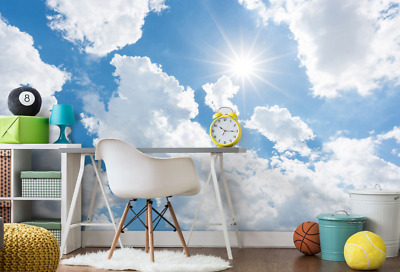 3D Cloud Sun 557 Wallpaper Murals Wall Print Wallpaper Mural AJ WALL AU Lemo