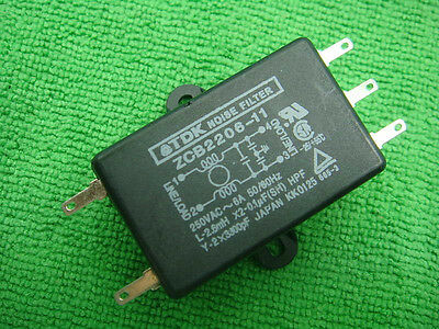 1pc TDK AC Noise Filter 110V 220V 6A ZCB2206-11 Power line D