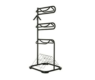 HORSE SADDLE RACK STAND 3 Tiers with Bridle Hooks and Vented Blanket Dryer Steel