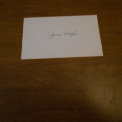 Zena  Keefe was an American actress in silent film Hand Signed Index Card