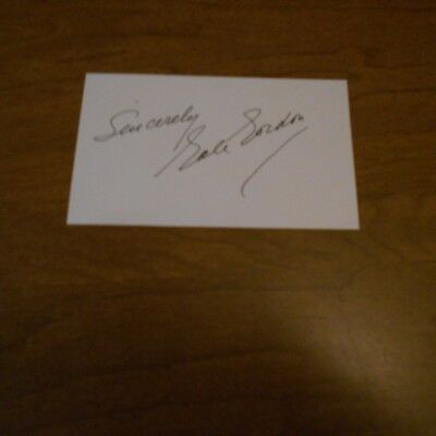 Gale Gordon was an American character actor  Hand Signed Index Card