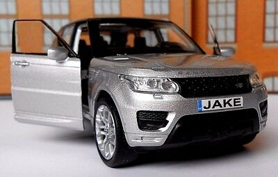 PERSONALISED PLATES RANGE ROVER SPORT Toy Car MODEL boy dad CHRISTMAS gift NEW!!