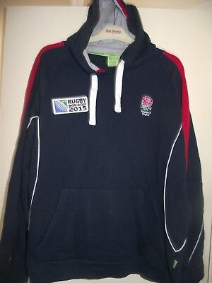 england world cup 2015 large  rugby union hooded top good cond