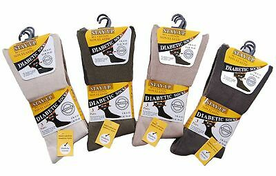 Mens Cotton Stay Up Non Elastic Loose Top Diabetic Socks With Hand Linked Toe